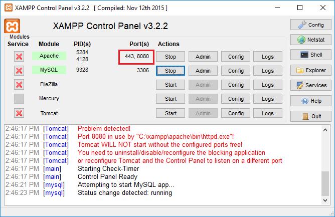Hướng dẫn đổi Port Xampp